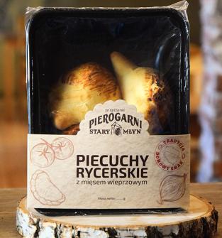 PIECUCHY RYCERSKIE - PIEROGI Z SOCZYSTYM MIĘSEM WIEPRZOWYM, 7szt.