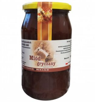 miód gryczany 1100 g - 100% naturalny